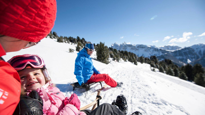 Rodelurlaub in den Dolomiten